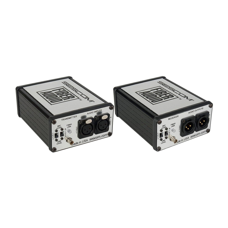 Sescom ses-fa2 2チャネルマイク&ラインレベルポータブルオーディオoverファイバーExtenderキット B019QQ3KXC