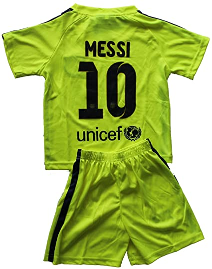 940b06e47 Amazon.com   2014 2015 FC BARCELONA THIRD LIME GREEN LIONEL MESSI (10)  FOOTBALL SOCCER KIDS JERSEY   SHORT (6-7 YEARS (24))   Sports   Outdoors