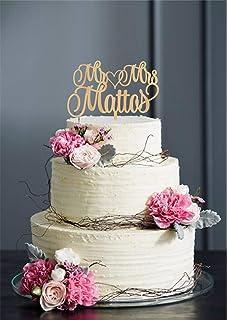 Personalisierte Hochzeitstortenaufsatz Mr And Mrs Fur