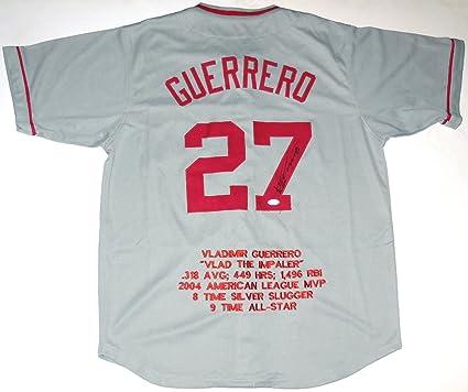af44540d0 Vladimir Guerrero Autographed STAT Jersey (Angels) JSA COA! at ...
