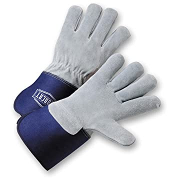Deerskin Leather Palm Gloves with Split Leather Back sold by the Pair