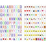 180 Cinema Signs Including 90 Multi-color Letters and 90 Multi-color Emojis for A4 Cinematic Lightbox