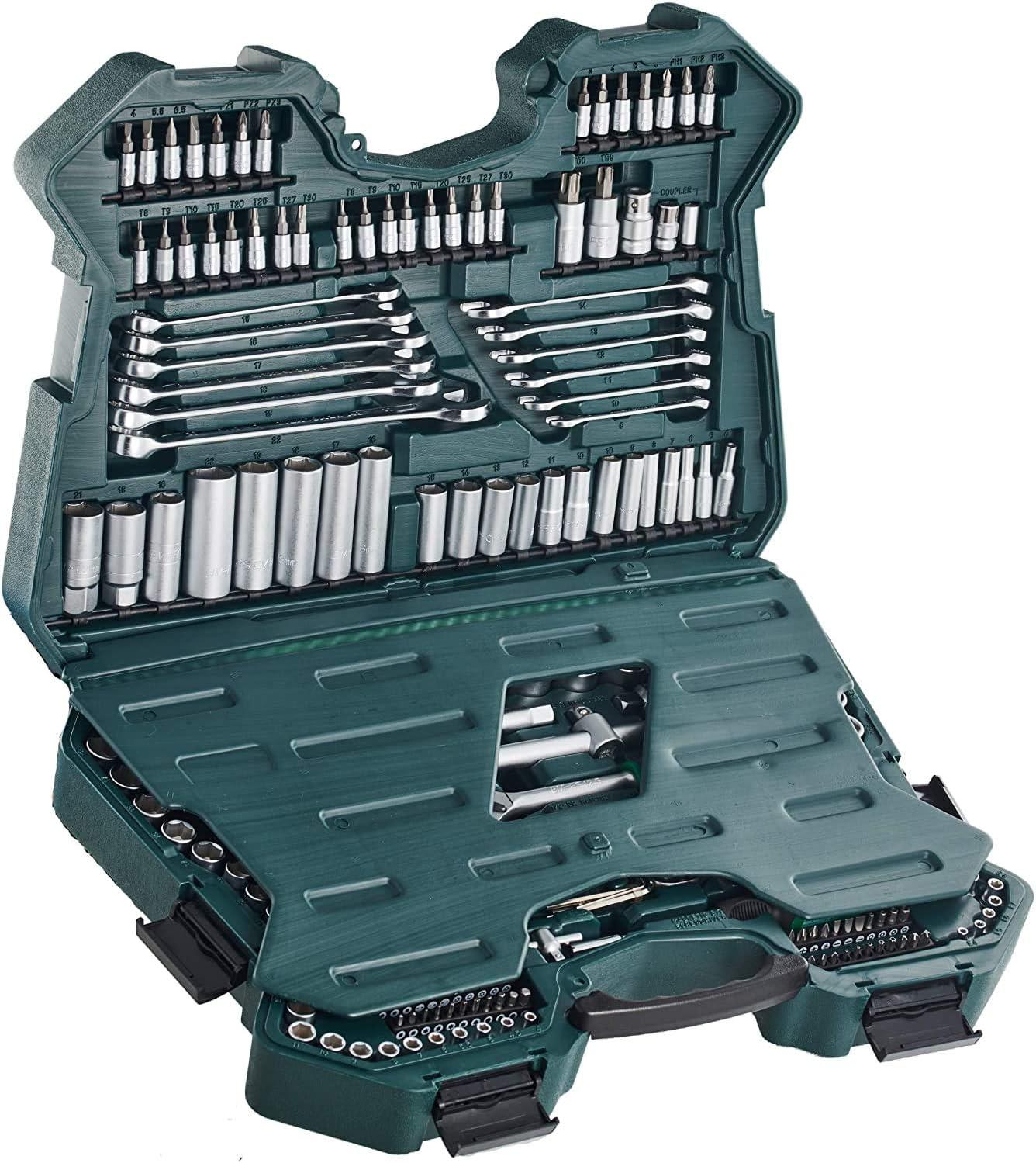 Mannesmann M98430 - Maletín con llaves de vaso y otras herramientas (215 piezas)