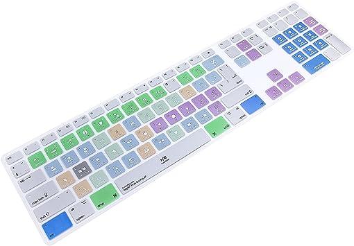 MMDW Final Cut Pro X - Funda protectora de silicona para teclado Apple iMac G6 con cable de aluminio MB110B/B (A1243)