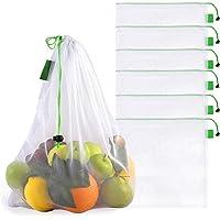 Bableco Bolsas Ecologicas para Fruta y Verdura. Bolsas Reusables de Malla Lavables para Guardar Fruta y Verdura…