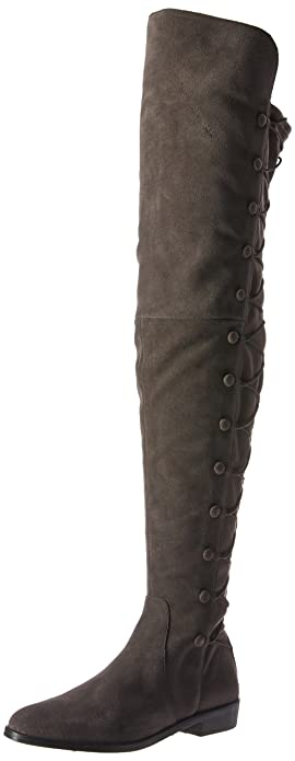f7cd86146e5 Vince Camuto Women s COATIA Over The Over The Knee Boot Gray Stone 5 Medium  US