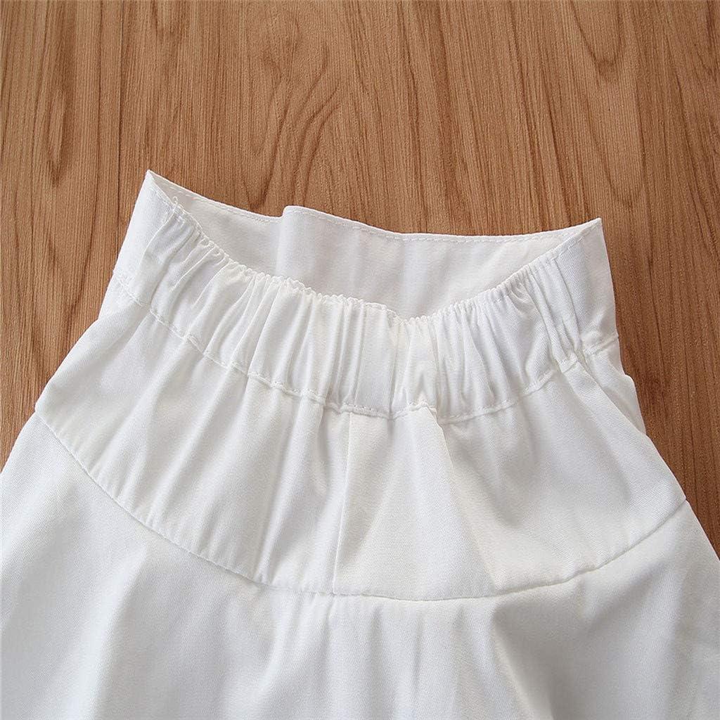 Cwemimifa Baby Kleidung M/ädchen Kleider festlich Outfits stilvoll /Ärmelloses Streifen Sling Weste Tops Solid Shorts Hosen Sommerkleid Kinder Kleider Baby Bekleidungssets
