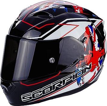 Scorpion Casco Moto EXO-1200 Air Alto, Black/White/Red, ...