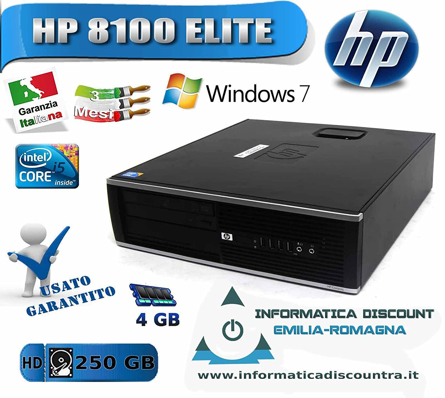 (訳ありセール 格安) 【中古】HP B00VM4IGI6 8100 8100 Elite Corei3-530-2.93GHz/160GB【中古】HP/2GB/DVD/リカバリ領域有 B00VM4IGI6, 朝倉町:c04a2827 --- arbimovel.dominiotemporario.com