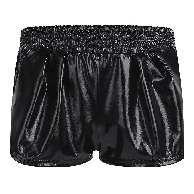 Mirawise Girls Metallic Shorts Shiny Hot Pants Sparkly Dance Outfits Short Pants