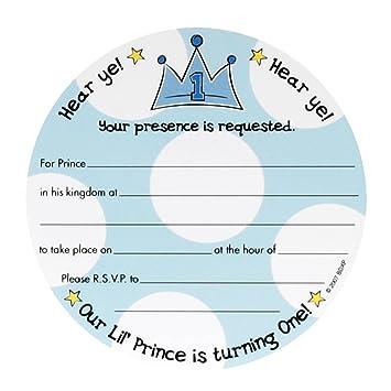 Amazon Com Lil Prince 1st Birthday Invitations Health Personal Care