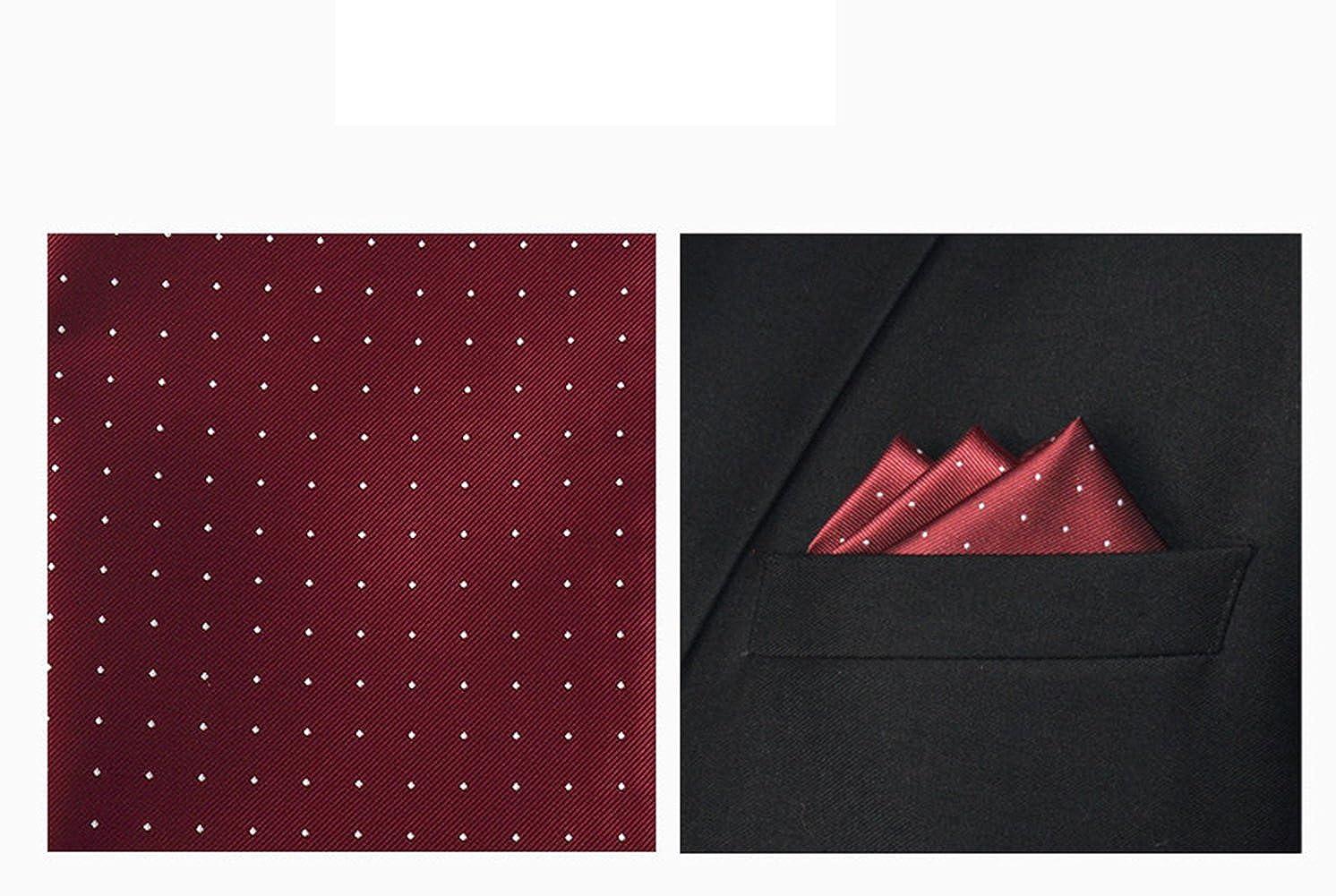 L04BABY Mens Bowtie Set Pack Bowtie+Lapel Pin+Pocket Square+Gift Box