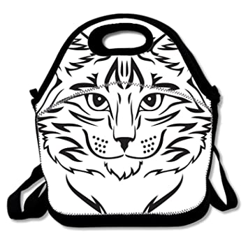 Amazon Com Fashion Lunch Tote Beauty Cat Lunch Box Reusable For