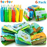teytoy My First Baby Bath Books, Nontoxic Fabric Soft Baby Bath Toys Early Education Toys Activity Waterproof Baby Books for