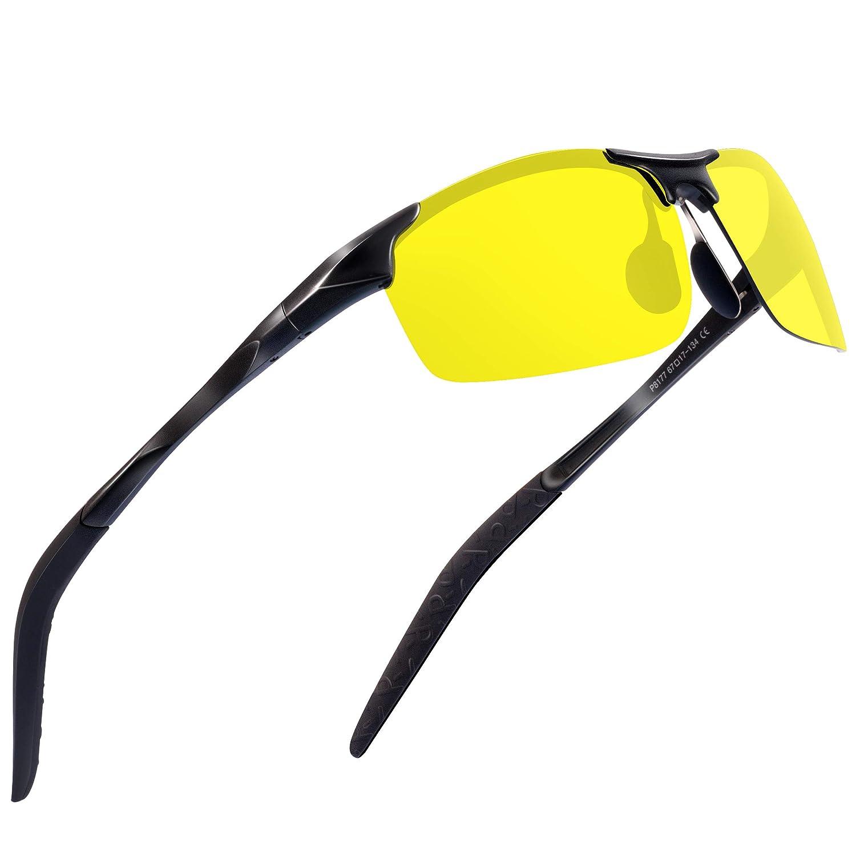 e70dd9dd13 Sports Polarized Sunglasses for Men - Feirdio Mens Sports Glasses Metal  Frame Driving sunglasses 2266