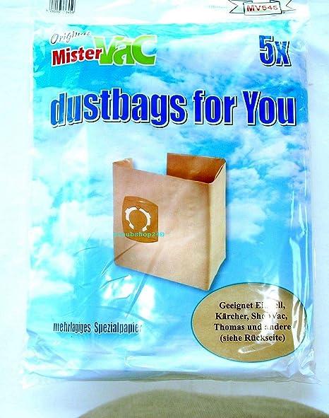 10 x Bolsas de aspiradora bolsa para el polvo bolsas Saco de filtro adecuado Makita vc2512l de la Industria Aspiradora: Amazon.es: Hogar