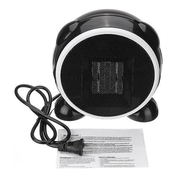 Tutoy 500W 220V/110V Calentador Eléctrico Portátil Mini Hogar Oficina Escritorio Espacio Eléctrico Calentador De Aire Caliente - Enchufe De Los E.E.U.U.: ...