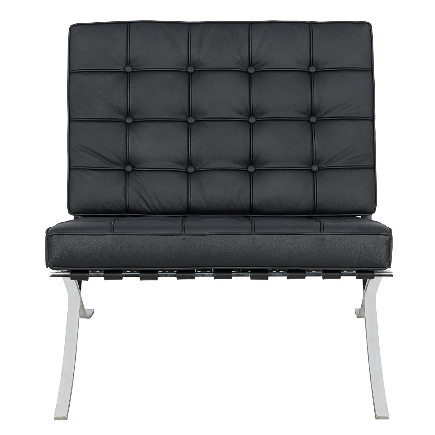 Amazon.com: LeisureMod Bellefonte Modern Leather Black ...