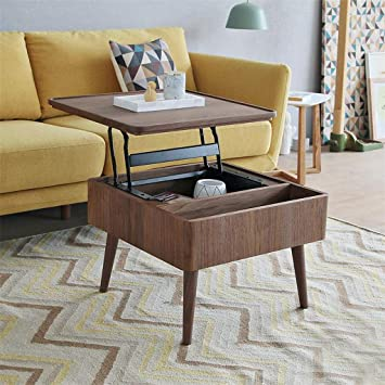 Amazon Com Chaji Multi Function Lifting Small Sized Coffee Table Creative Storage Side Change Table For Living Room And Office 600 600 430mm Kitchen Dining