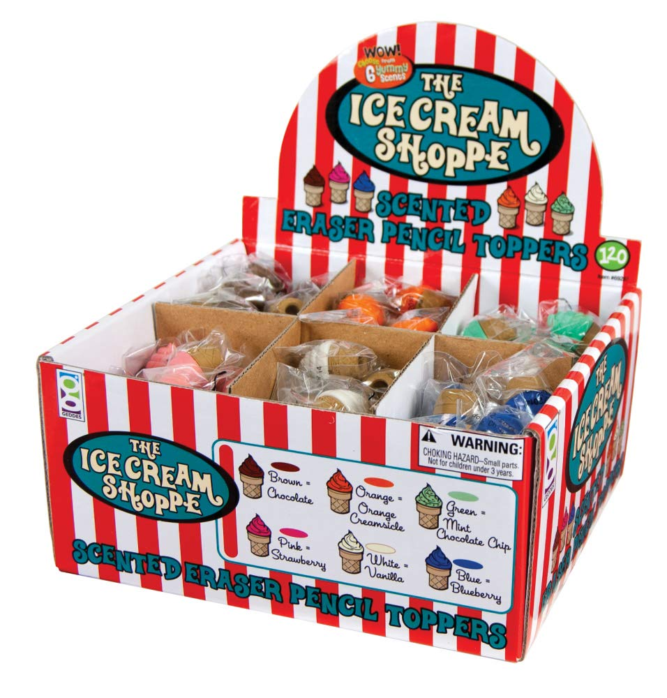 Raymond Geddes Ice Cream Shopper Scented Eraser Pencil Toppers, Set of 120 (69287) by Raymond Geddes (Image #4)