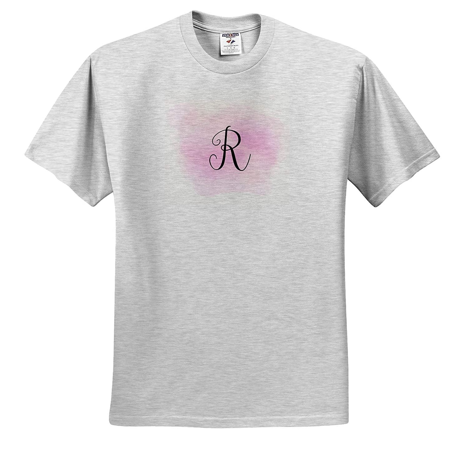 Monogram Image of Pink Watercolor R Monogram 3dRose Gabriella B T-Shirts