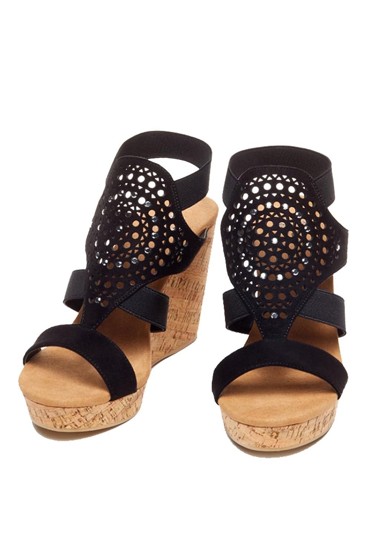 Yellow Box Womens Nyellie Wedge Shoe B01MPXGOJ6 10 B(M) US|Black