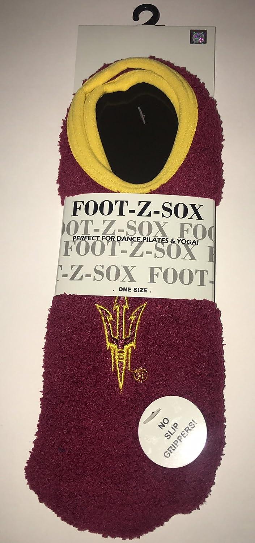 Collegiate Slipper socks-ncaaスーパーソフトFuzzy Socks with Noスリップグリップと刺繍ロゴ B078167LLJ Arizona State Sun Devils Arizona State Sun Devils