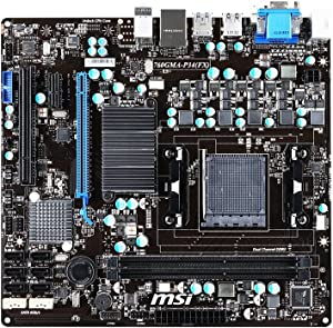 MSI Socket AM3+/AMD 760G/DDR3/CrossFireX/SATA3 and USB 3.0/A&GbE/MicroATX Motherboard 760GMA-P34 (FX)