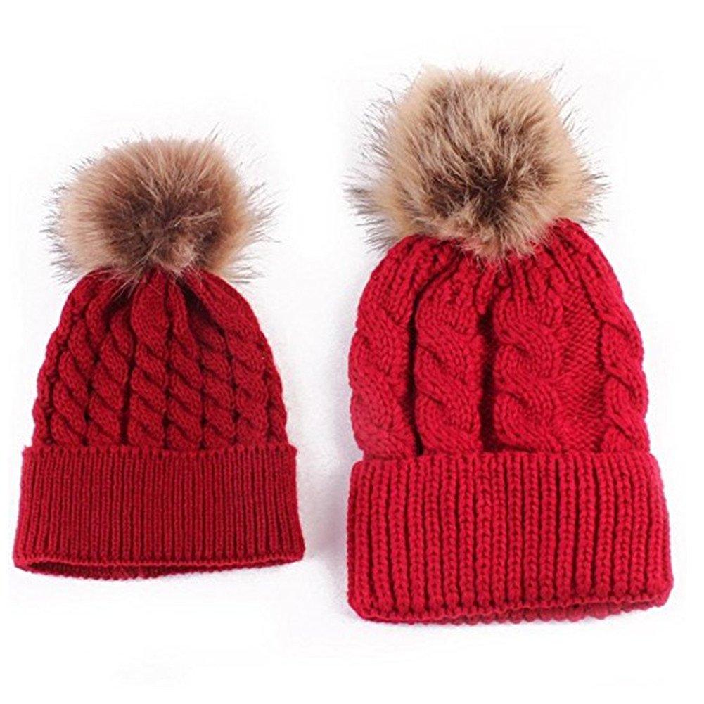 FZAY Mom And Baby Knitting Keep Warm Hat