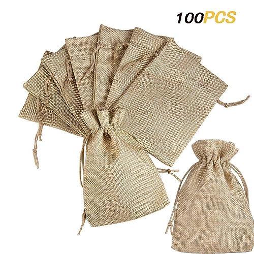 XUTONG - 100 bolsitas para peladillas, de Tela, para ...