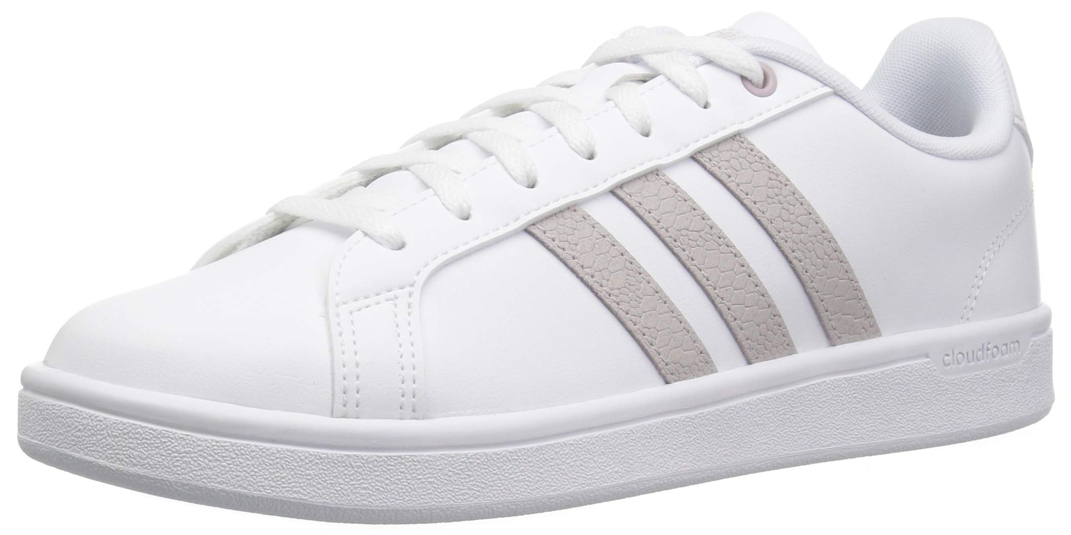 adidas Women's Cf Advantage Sneaker, White/ice Purple/Light Granite, 5.5 M US