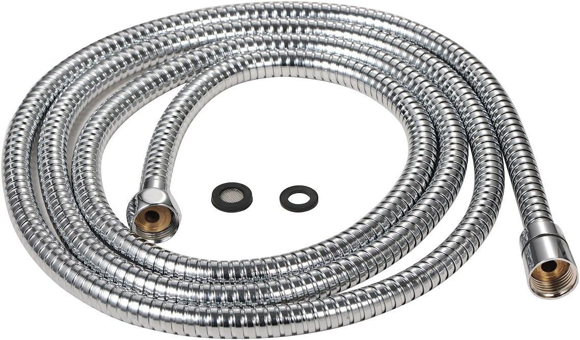 5/anno di garanzia con dettagli in ottone Purelux ricambio doppio blocco tubo flessibile per doccia in acciaio INOX