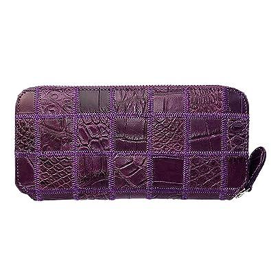 d29b16e66f3951 Amazon | クロコダイル 財布 ブランド レディース メンズ ブランド キルティング 紫 パープル G-BALLER | 財布