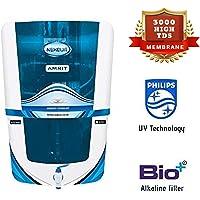 Nexqua Dew Alkaline RO+UV+UF+TDS Water Purifier with HIGH 3000 TDS Membrane Phillips UV (Blue)