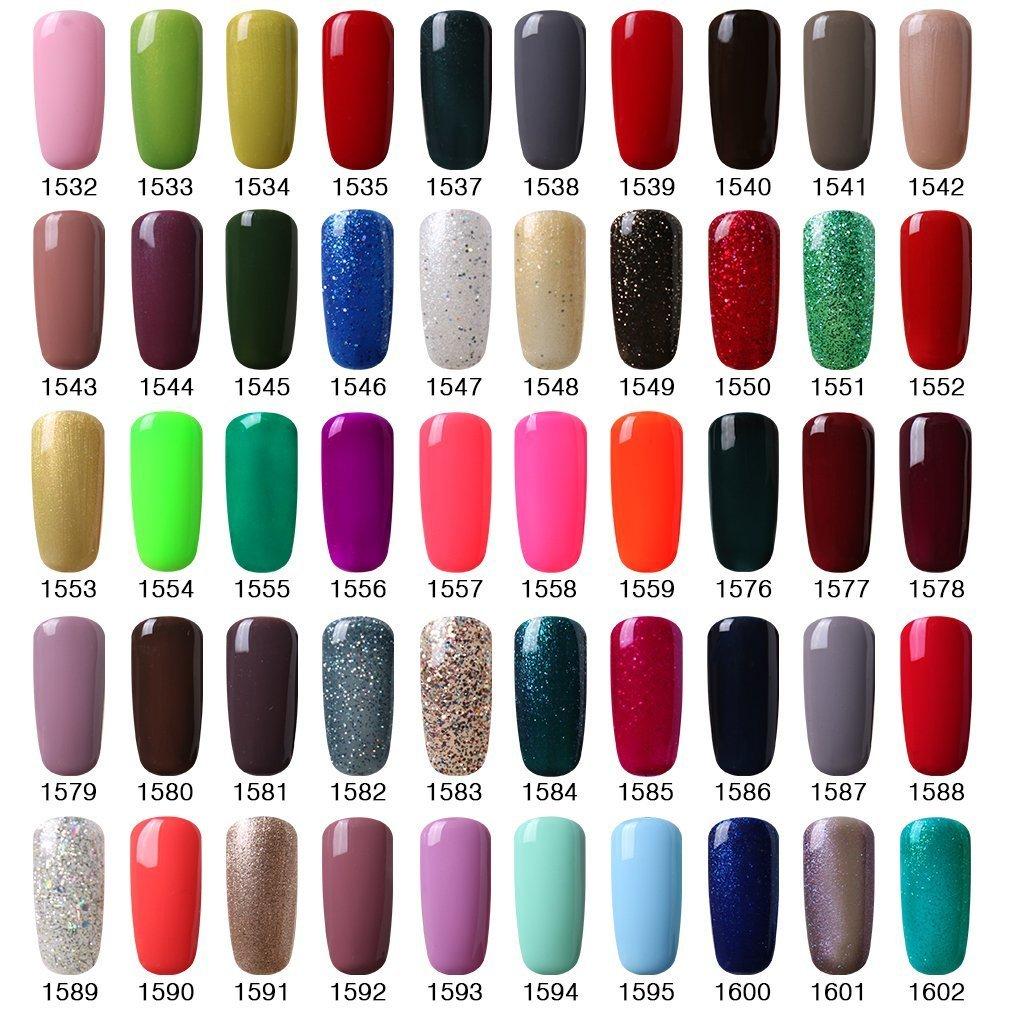 Vishine Gel Polish Nails (Pick Any 5 Colors) Soak Off + Top Base ...