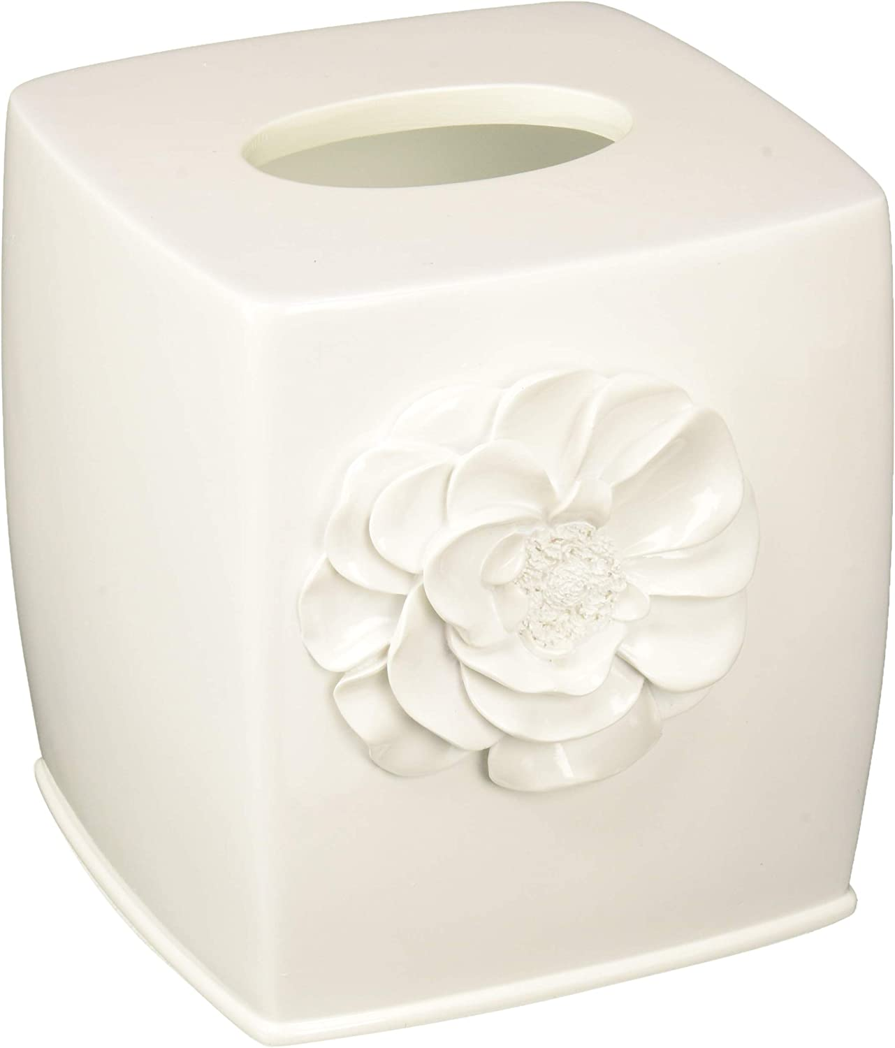 SKL Home by Saturday Knight Ltd. Keila Rose Tissue Box Cover, White