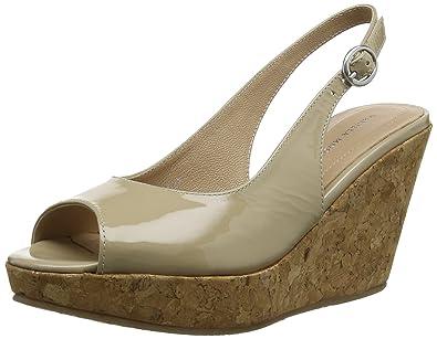 33a82a696 Vanilla Moon Marie, Women Wedge Heels Sandals, Beige (Beige Patent), 5