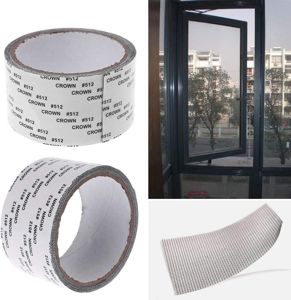 fivekim Insects Tape Fly Mosquito Screen Cover Repair Kit Window Repair Tools Doors And Windows Diameter 9Cm 3.54In