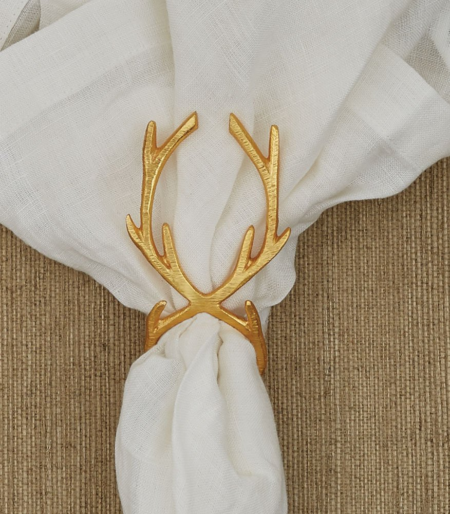 Split P Gold Reindeer Napkin Ring – set of 4 Scout Limited Inc.