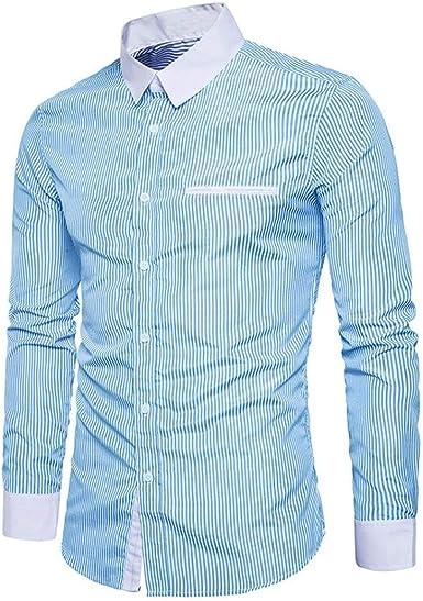 Camisas De Manga Larga para Hombres Camisa De De Negocios Mode De Marca para Hombres Camisa Polo Moderna Camisa De Ocio Camisa Casual con Cuello Alto Camisa con Botones Blusa De Botones: