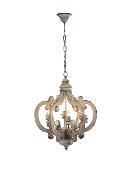 "Wood-metal Chandelier 19.25"" X 25"" Beautiful Antique Chandelier  Vintage Chandelier Hanging Chandelier - Amazon.com: Wood-metal Chandelier 19.25"