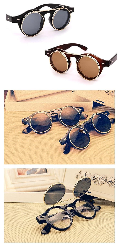 Amazon.com: FUNOC Vintage 50s Unisex Sunglasses Steampunk ...