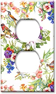 Art Plates Brand Electrical Outlet Cover Wall/Switch Plate - Watercolor Birds