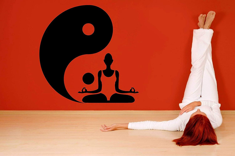 Amazon.com: Vinyl Sticker Yin Yang Symbol Yoga Pose Namaste ...