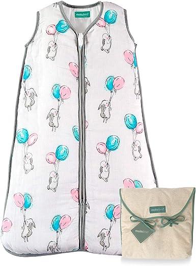 molis&co. Saco de Dormir para bebé. Ideal para Verano. 0.5 TOG. Súper Suave y Ligero. Muselina Premium.: Amazon.es: Ropa y accesorios
