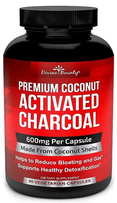 Contiene una fórmula eficaz de carbón de coco muy natural. Indicado para aliviar la hinchazón, los gases y desintoxicar.