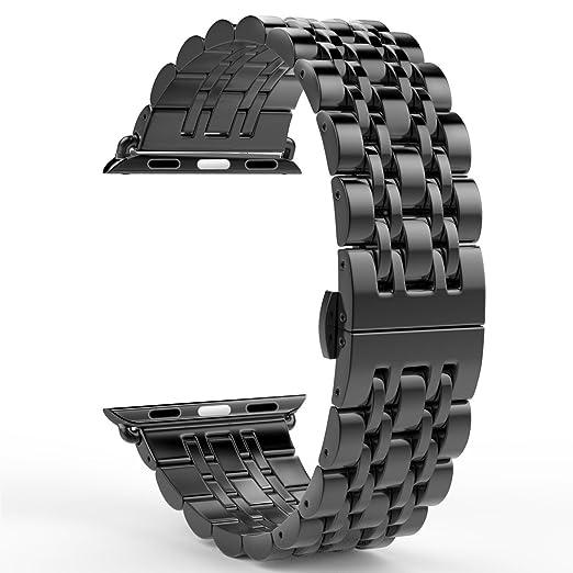 85 opinioni per Cinturino Apple Watch,PUGO TOP 316L acciaio inossidabile Band cinturino da polso