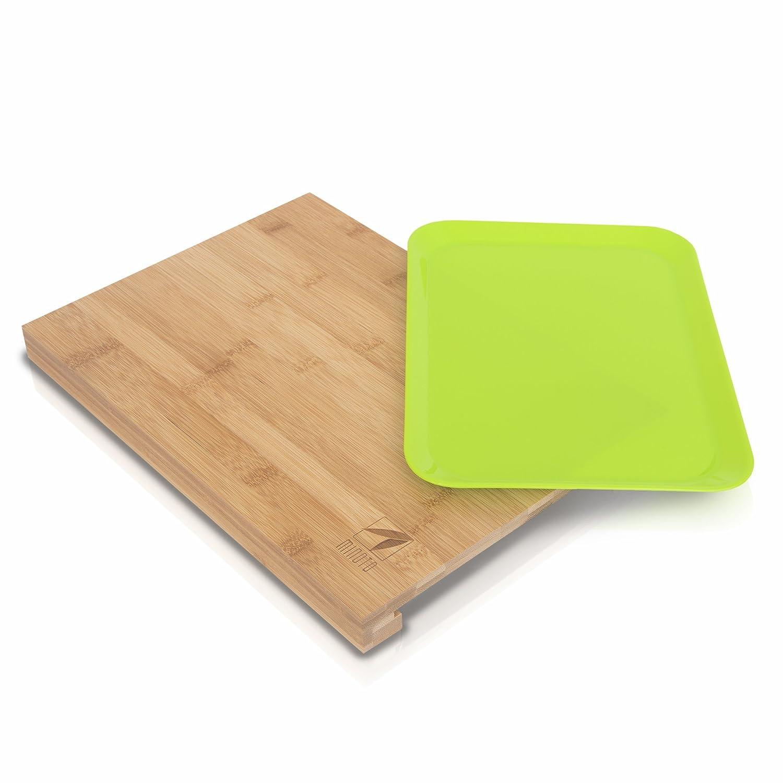 MIJOTO minoto tagliere in bamb/ù con vaschetta raccogligocce/ /Tagliere in legno di bamb/ù naturale/ /Rettangolare 38/X 27 /particolarmente klingenschonend/