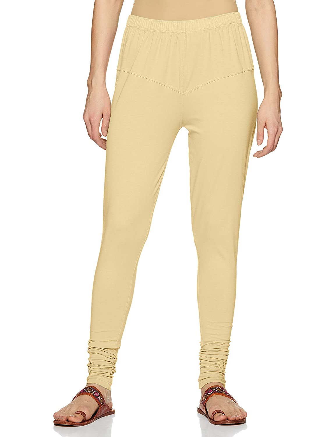 LUX LYRA Women's Leggings Silk_77_Cream_Free Size