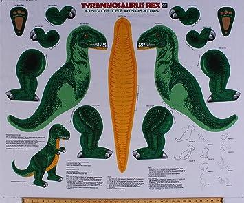 Amazon Com 35 X 44 Panel T Rex Dino Dinosaur Stuffed Animal Toy